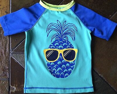 water shirt Size 24 Months 2T beach pool sun top cover up short sleeved