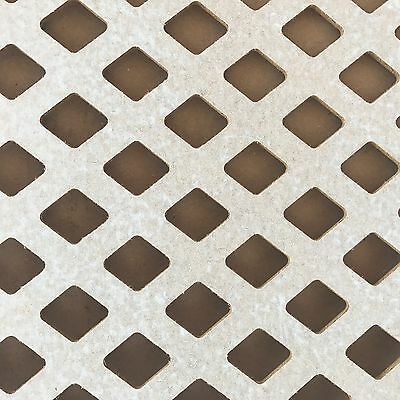 Radiator Cabinet Decorative Screening Perforated Primed MDF Mesh Panel Grilles