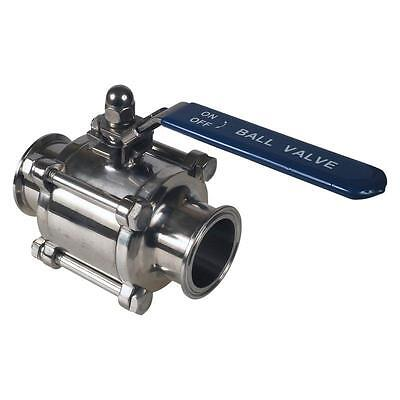 "Sanitary Ball Valve | 2"" Economy/PTFE - Stainless Steel SS304 (50 Pack)"