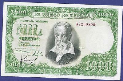 Superbe 1000 Pesetas 1951 Banknote From Spain !!!!!! Very High Value