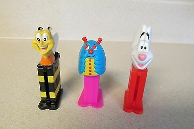 Lot Of 3 Vintage Pez Mini Containers Honey Nut Cheerios Bee, Dog, Bug!