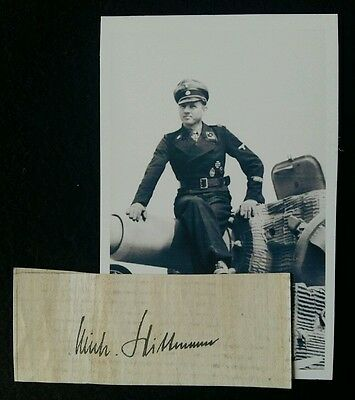 Michael Whittmann Autograph Clipping And Photograph