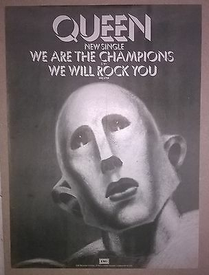 QUEEN We Are The Champions ORIGINAL 1977 Promotional Advert Poster