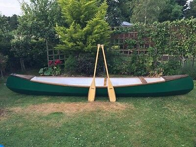 15ft wooden canadian style canoe