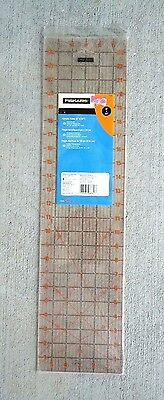 "New Fiskars 6"" X 24"" Acrylic Ruler 30, 45 & 60 Degree Bias Lines"