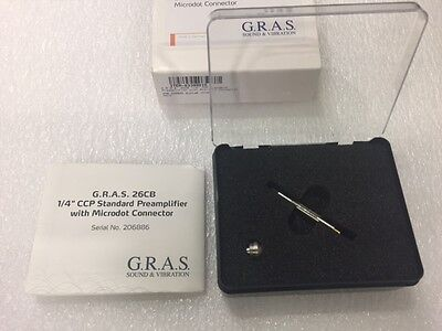 """G.R.A.S. 26CB 1/4"""" CCP Standard Preamplifier with Microdot Connector"""