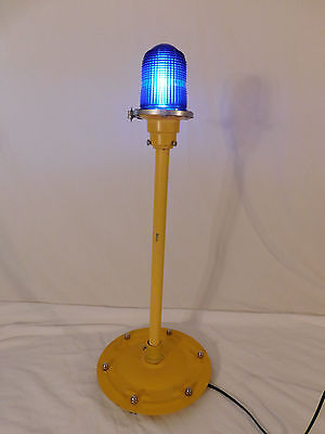"""Airport Runway/Taxiway Cobalt Blue Light - 30"""" Tall - Rewired with LED  #1"""
