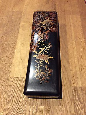 Vintage Japanese Lacquered Glove Box