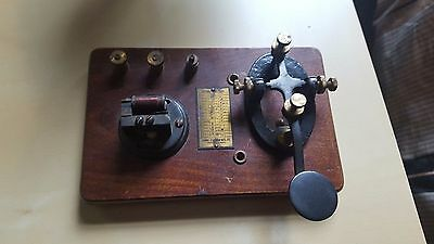 Antique Morse Code Telegraph Key 1920s  Signal Electric Co.