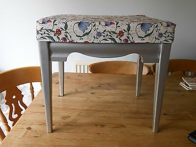 Dressing Table/ Boudoir Stool With Beautiful Upholstery Fabric Cover.