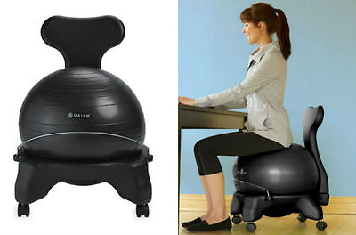 Desk Exercise Ball Office Chairs For Bad Back Support Balance Ease Lower Pain