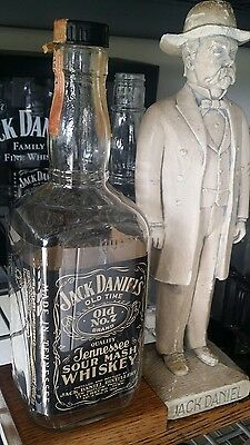 ↗ 1955 BLACK LABEL ↖ 5 Year Old Whiskey  Jack Daniels ☆☆ 4/5 QUART ☆☆ Bottle