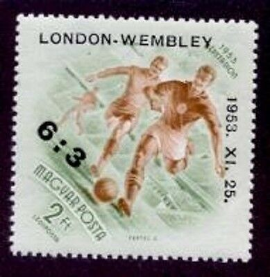 HUNGARY 2Ft SOCCER w/LONDON WEMBLEY 1953 OVPT