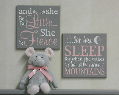 Shakespeare Quote Sign: though she be but little / let her sleep - Select Color