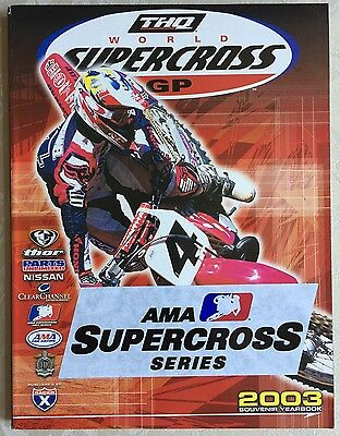 Supercross 2003 Souvenir Program Yearbook - Ricky Carmichael