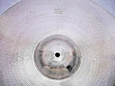 "VINTAGE 1960s 20"" Paiste LUDWIG STANDARD Thin CRASH Cymbal *Ex Cnd 1764g *WWSHIP"