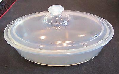 """Vintage Fry Opalescent 8"""" Casserole Baker With Cover Great Condition"""