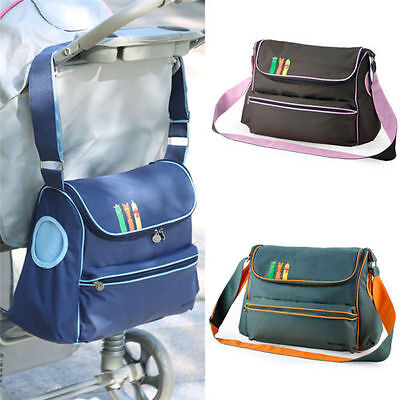 Maternity Mummy Changing Bag Baby Nappy Diaper Wipe Clean Shoulder Handbag Blue