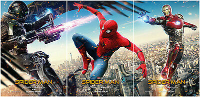 Spider-Man Homecoming Movie Poster Set 3PCS Art Silk Fabric Print Size 13x20""