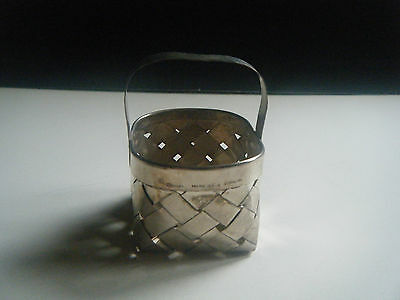 CARTIER Vintage Miniature Sterling Silver Woven Basket Authentic Signed + BONUS!