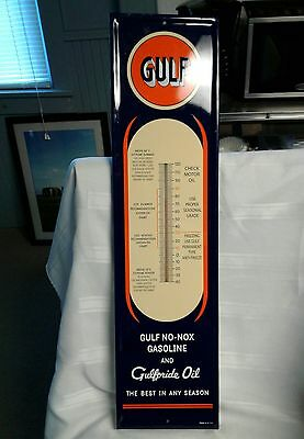 VINTAGE Gulf Station Advertising Gas Oil Thermometer. Excellent condition