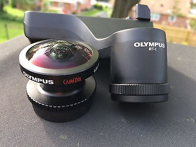 OLYMPUS 0.2X Fisheye Conversion Digital Camera Lens FCON-02, RT-1 Tripod Rotator