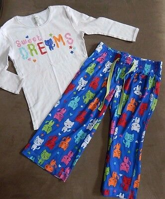 Girls Summer Pajama Pjs CATS SWEET DREAMS Two Piece Set SIZE 8 M OLD NAVY