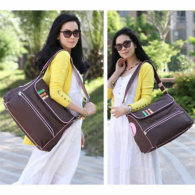 Maternity Mummy Changing Bag Baby Nappy Diaper Wipe Clean Shoulder Handbag