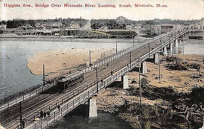 Higgins Ave., Bridge over Missoula River Looking South, Missoula, MONT ~ Trolley