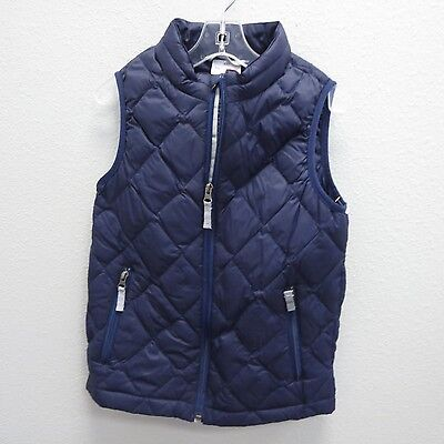 HANNA ANDERSSON Boys Blue Quilted Puffer Sailing Swiss Mountaineer Vest 140 9/11