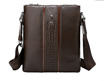 New men's Leather Handbags Briefcase Laptop Shoulder Messenger Tote Bags wallets