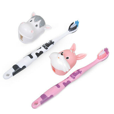 Children's Super Soft Bristle Toothbrush Kids First Tooth Brush+Protective Cover