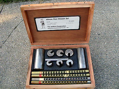 Dumont  Minute Man Keway & Hole Broach Set 40