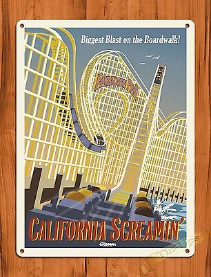 "TIN-UPS Walt Disney Tin Sign ""California Screaming"" Vintage Ride Art Poster"