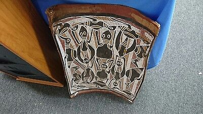Vintage Aboriginal authentic bark painting