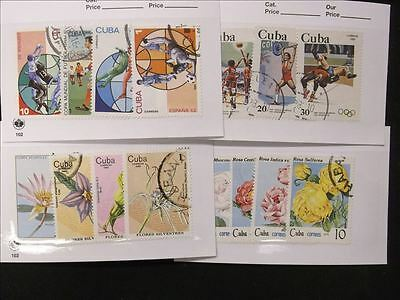 Caribbean Lot of 4 Stamp Packs