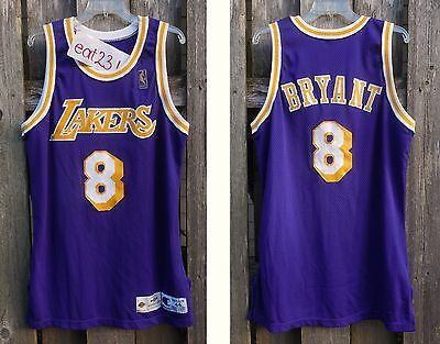 96 KOBE BRYANT Lakers rookie game used jersey pro cut Champion 44+3 durant curry