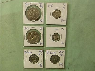 Caribbean Lot of 6 coins
