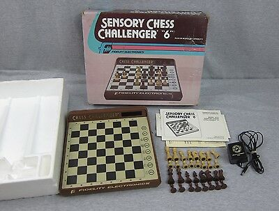 Fidelity Sensory Chess Challenger 6 SC6 Electronic Chess Game made in USA