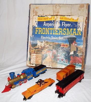1959 American Flyer SET 20655 Frontiersman Freight Old Time blue 21089 w/Set Box