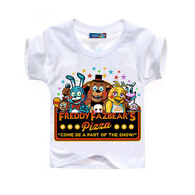 FNAF Kids Boys Girls Five Nights at Freddy's Tee T-Shirts Top T Shirt 8-9 Years