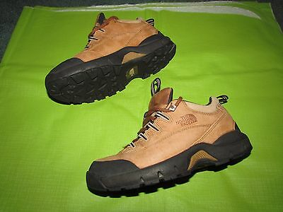 North Face women's tan leather hiking shoes size 8