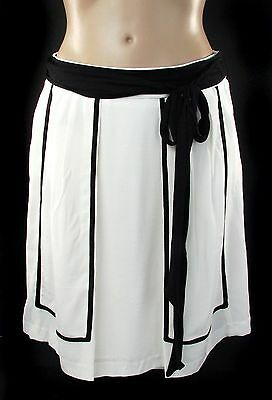 NWT Rayon Parameter Ivory Classic A-Line skirt size 10