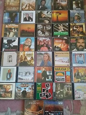 Country music bulk lot of 37 CDs - 48 discs *as new* Adelaide