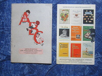 Early 1900s Metropolitan Insurance Company ABC Advertising Book Alphabet hj2498
