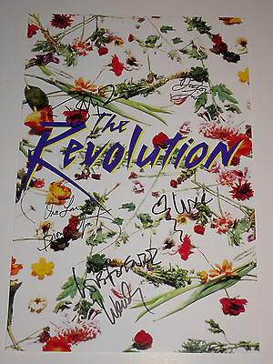 PRINCE'S BAND THE REVOLUTION SIGNED AUTOGRAPHED X5 POSTER 12x18 COMPLETE PROOF