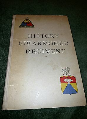 History 67th Armored Regiment Book - Very Rare!
