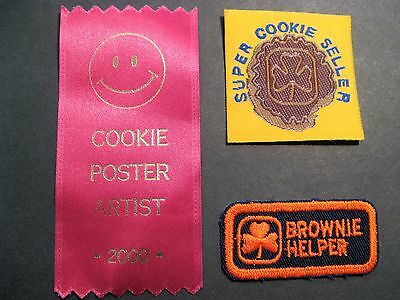 Girl Guides Canada 3 Super Cookie Seller Poster Artist Helper Brownies Scouts
