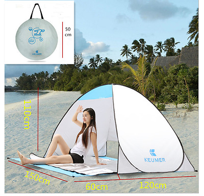 Portable Tent 2 Person Pop Up Waterproof Instant Camping Beach Shelter Canopy