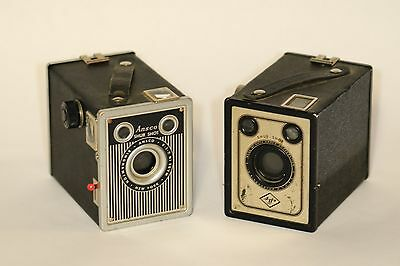 Set of Two (2) Agfa/Ansco Shur-Shot Box Cameras - Nice Condition!